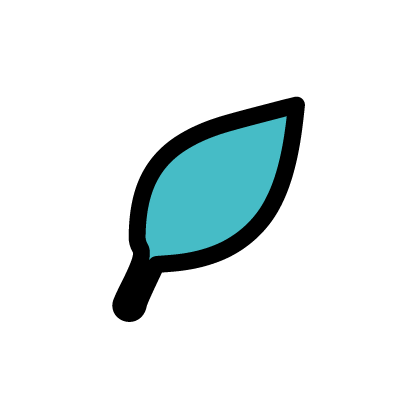 Leaf icon to signify earth quality