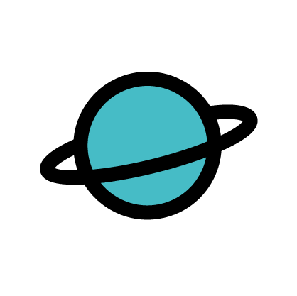 Planet icon to signify ruling planet as Saturn