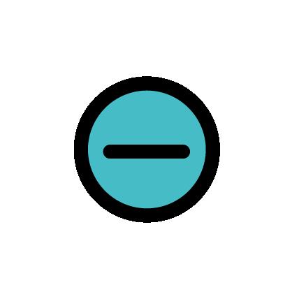 Negative icon to show negative polarity