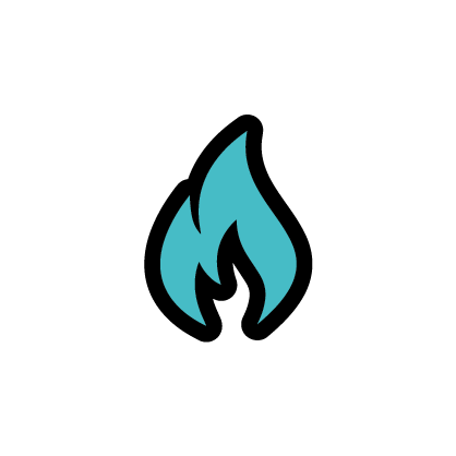 Flame icon to signify fire quality
