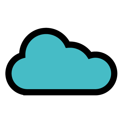 Cloud icon to signify wind quality