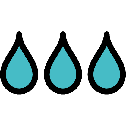 Water icon to signify water quality